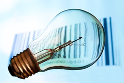 Barcode and light bulb, Fishbowl Blog