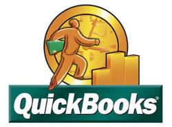 QuickBooks logo, copyright of Intuit