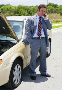 Businessman car breakdown, Fishbowl Blog