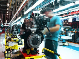 Manufacturing motors on an assembly line, Fishbowl Blog